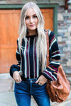 Falling In Love Striped Sweater