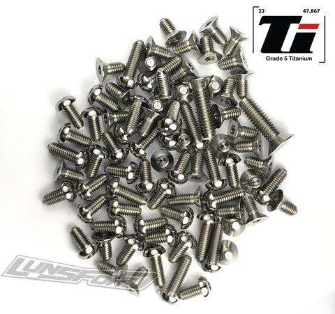 Titanium Screw Kit for Team Associated RC10F6 (76pcs)