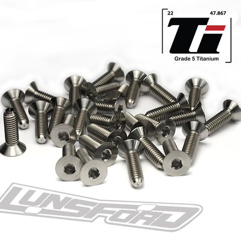 Titanium Screw Bottom Kit for Tekno EB410.2 (27pcs)