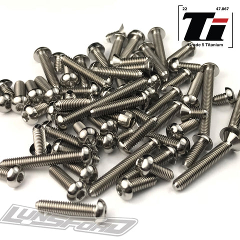 Titanium Screw Top Kit for Tekno EB410 (64pcs)