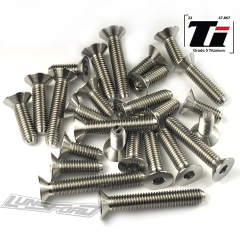 Titanium Screw Bottom Kit for TLR 22T 4.0 (26pcs)