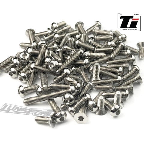 Titanium Screw Top Kit for Yokomo YZ-4 SF (86pcs)
