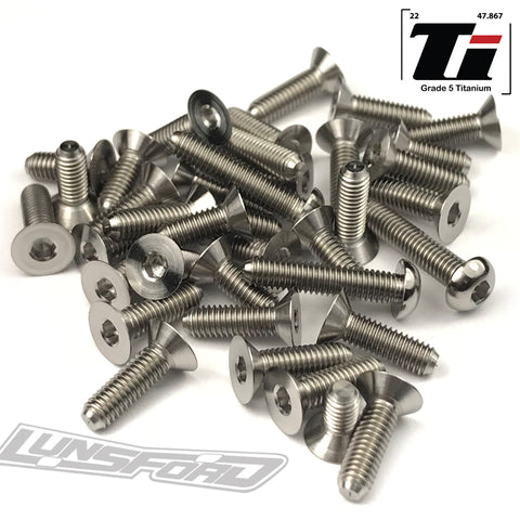 Titanium Screw Bottom Kit for XRay XB4 2018 (38pcs)