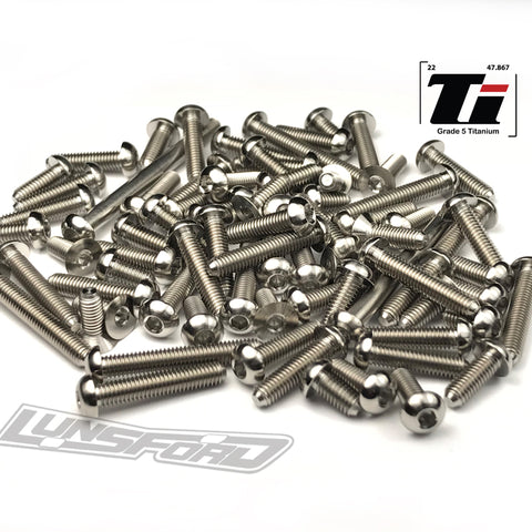 Titanium Screw Top Kit for XRay XT2 2018 (76pcs)