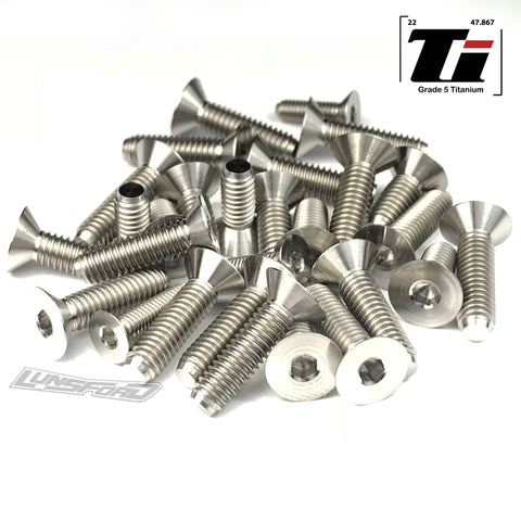 Titanium Screw Bottom Kit for Hot Bodies D817v2 (25pcs)