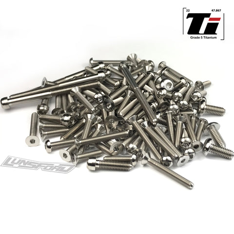 Titanium Screw Top Kit for Hot Bodies D817v2 (109pcs)