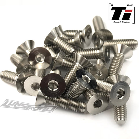 Titanium Screw Bottom Kit for Hot Bodies D817T (24pcs)