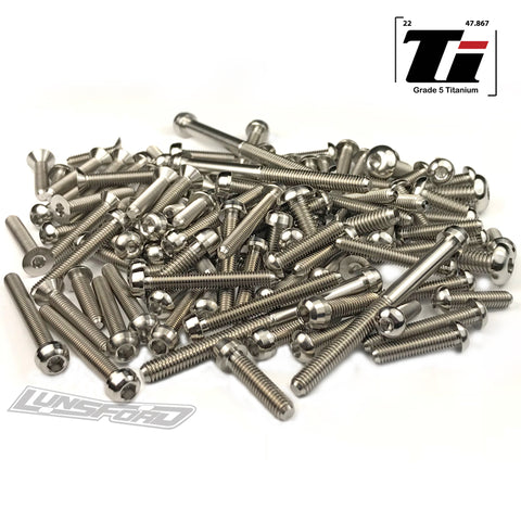 Titanium Screw Top Kit for Hot Bodies D817T (102pcs)
