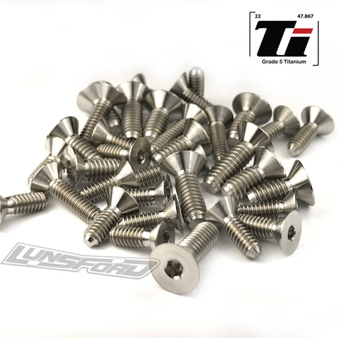 Titanium Screw Bottom Kit for TLR TEN-SCTE 3.0 (34pcs)