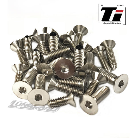 Titanium Screw Bottom Kit for TLR 8ight-T E 3.0 (34pcs)