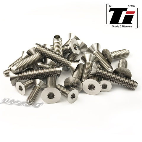 Titanium Screw Bottom Kit for  Mugen MBX-8 Eco (25pcs)