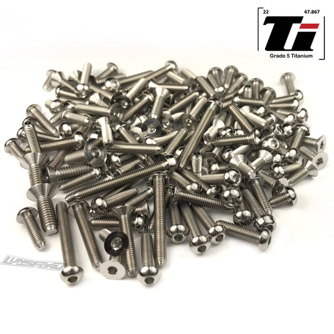 Titanium Screw Top Kit for Mugen MBX-8 (150pcs)