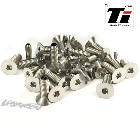 Titanium Screw Bottom Kit for Tekno EB-48.4 (32pcs)
