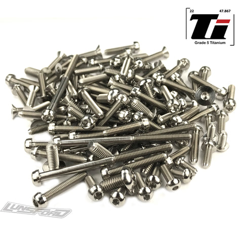 Titanium Screw Top Kit for Tekno EB-48.4 (120pcs)
