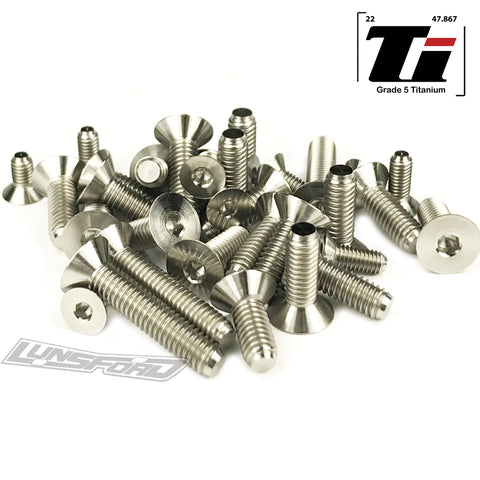 Titanium Screw Bottom Kit for Team Associated RC8B3.1 (33pcs)