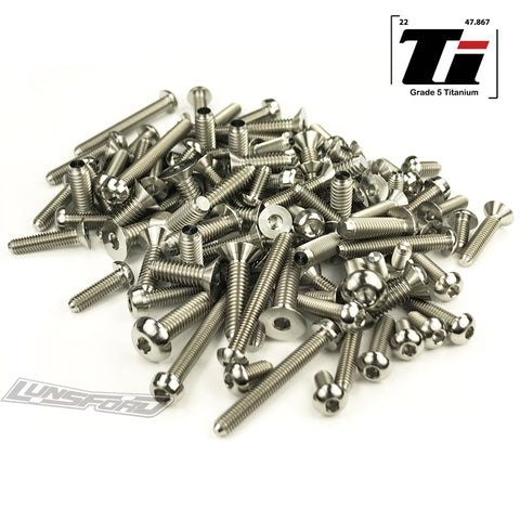 Titanium Screw Top Kit for Team Associated RC8T3.1e (85pcs)