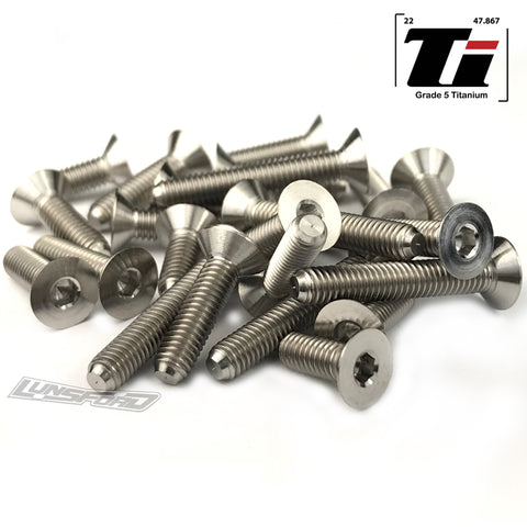 Titanium Screw Bottom Kit for Team Associated RC10B6.1 / RC10B6.1D / RC10B6.1DL / RC10B6.1 Factory Lite (24pcs)
