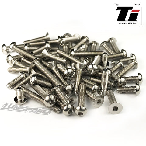 Titanium Screw Top Kit for Team Associated RC10B6.1 / RC10B6.1D / RC10B6.1DL (64pcs)