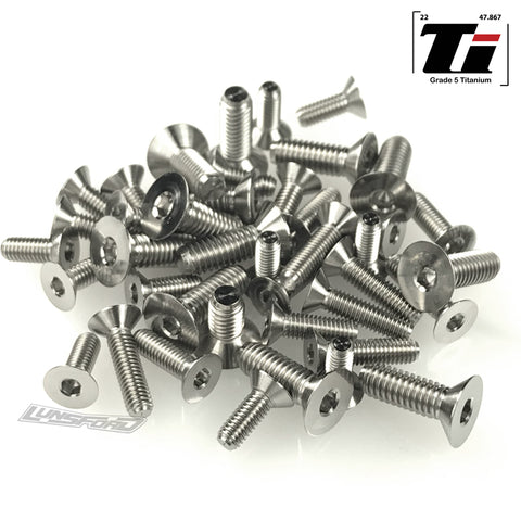 Titanium Screw Bottom Kit for TLR 8ight-X / 8ight-X Elite (41pcs)