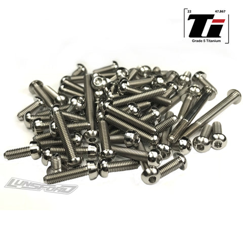 Titanium Screw Top Kit for Schumacher Cat L1 (75pcs)