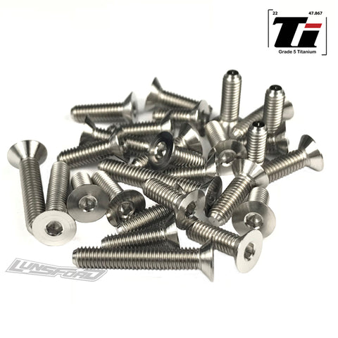 Titanium Screw Bottom Kit for Yokomo YZ-2 T (30pcs)