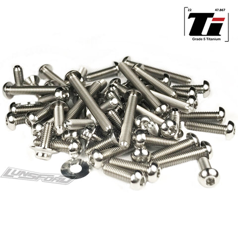 Titanium Screw Top Kit for Yokomo YZ-2 CAL 2/YZ-2 DTM 2 (62pcs)