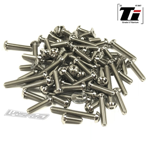 Titanium Screw Top Kit for Team Associated RC10SC6.1 (98pcs)