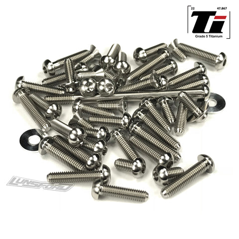 Titanium Screw Top Kit for TLR 22 4.0 Spec Racer (47pcs)