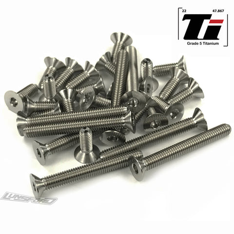 Titanium Screw Bottom Kit for Hot Bodies D418 (31pcs)