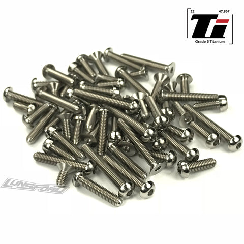 Titanium Screw Top Kit for Hot Bodies D418 (56pcs)