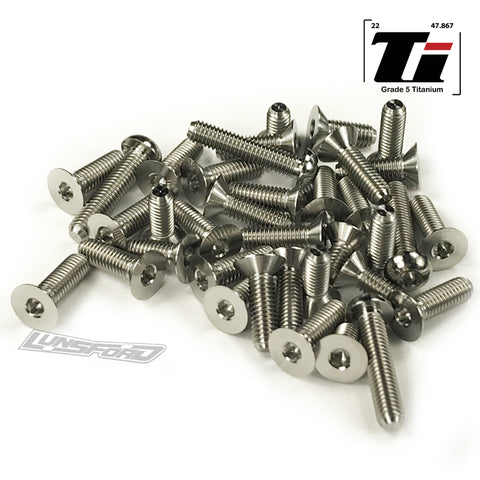 Titanium Screw Bottom Kit for XRay XB4 2020 (38pcs)