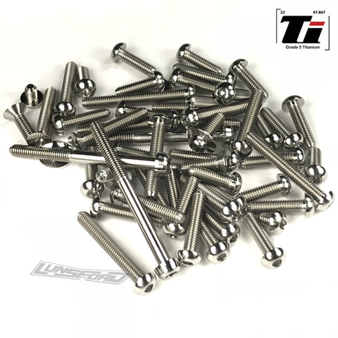 Titanium Screw Top Kit for Serpent Spyder SRX2 MHT (58pcs)