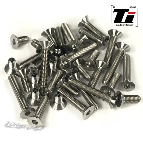 Titanium Screw Bottom Kit for Serpent Spyder SDX4 EVO (30pcs)