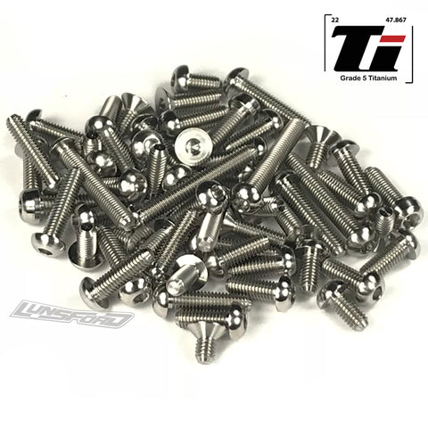 Titanium Screw Top Kit for Serpent Spyder SDX4 EVO (58pcs)