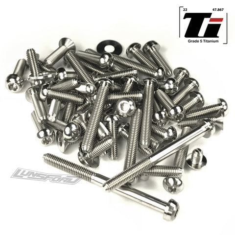 Titanium Screw Top Kit for Schumacher Cougar KC (68pcs)