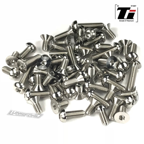 Titanium Screw Complete Kit for Roche P12-2017 Pan Car (63pcs)