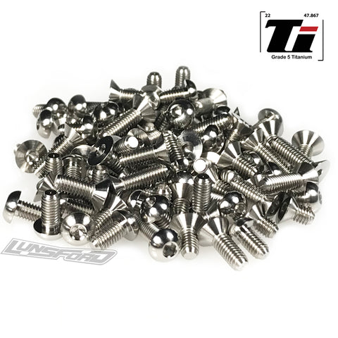 Titanium Screw Complete Kit for Awesomatix A8000X, A800XA (102pcs)