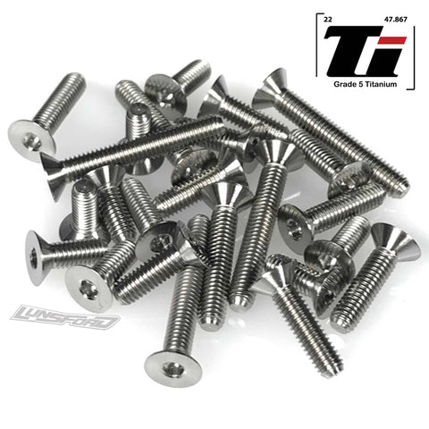 Titanium Screw Bottom Kit for TLR 22 5.0 AC, DC, DC Elite, SR (24pcs)