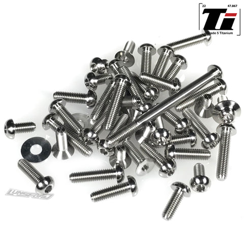 Titanium Screw Top Kit for TLR 22 5.0 AC, DC, SR (47pcs)