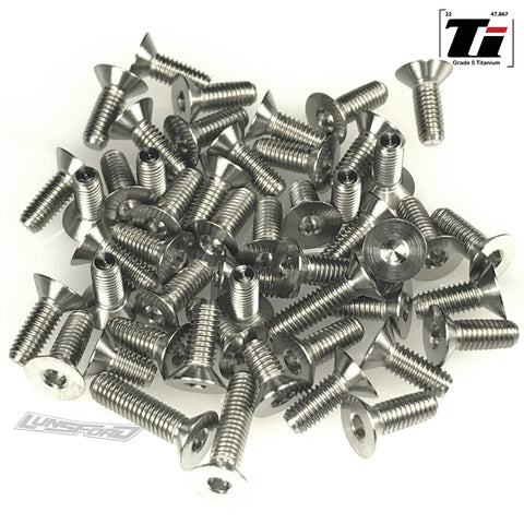 Titanium Screw Bottom Kit for Kyosho ZX7 (50pcs)