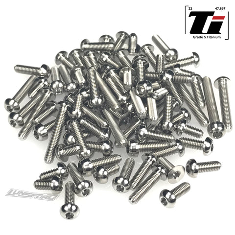 Titanium Screw Top Kit for Kyosho ZX7 (80pcs)