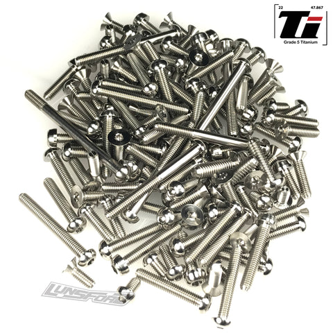 Titanium Screw Top Kit for XRay XB8 2019 / 2020 (133pcs)