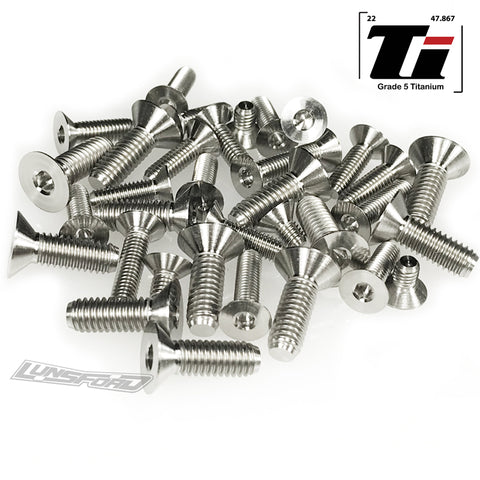 Titanium Screw Bottom Kit for TLR 8ight-XE (35pcs)