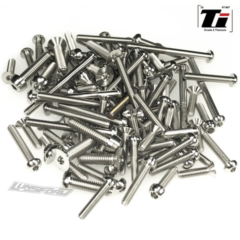 Titanium Screw Top Kit for TLR 8ight-XE (102pcs)