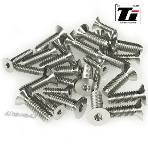 Titanium Screw Bottom Kit for Team Associated RC10 Worlds (25pcs)