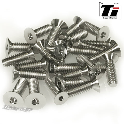 Titanium Screw Bottom Kit for Team Associated RC10 Original 6-Gear (25pcs)
