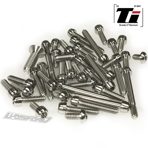 Titanium Screw Top Kit for Team Associated RC10 Original 6-Gear (45pcs)