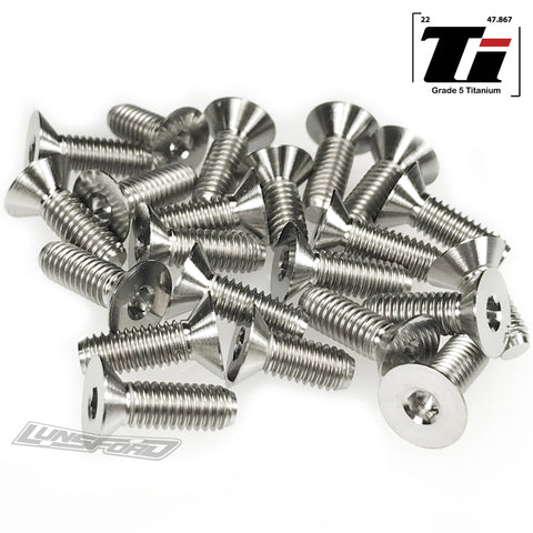Titanium Screw Bottom Kit for XRay XB8E 2019 / 2020 (21pcs)