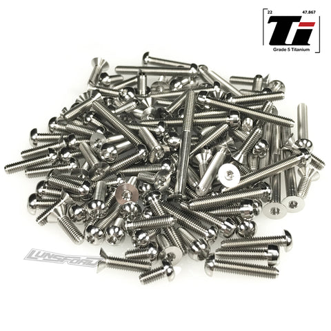 Titanium Screw Top Kit for SWorkz S35-3 (130pcs)
