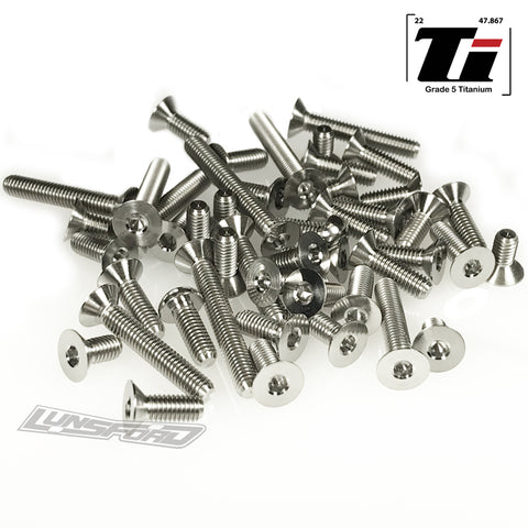 Titanium Screw Bottom Kit for XRay XT2 2019 (29pcs)